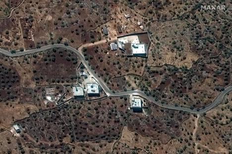 Kaupallinen satelliittikuva kohteesta, jossa Abu Bakr al-Baghdadi piileskeli Syyriassa.