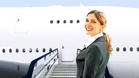 Lentoemännät antavat vinkkinsä, kuinka pysyä viimeistellyn näköisenä pitkänkin lentomatkan ajan. Kuvituskuva. Kuvan lentoemäntä ei liity juttuun.