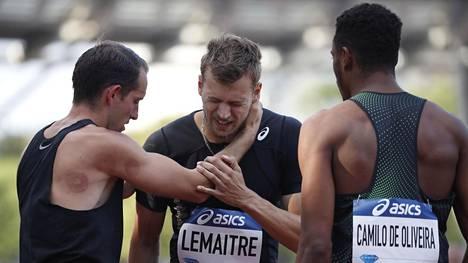 Christophe Lemaitre loukkaantui viime viikonloppuna Pariisissa.