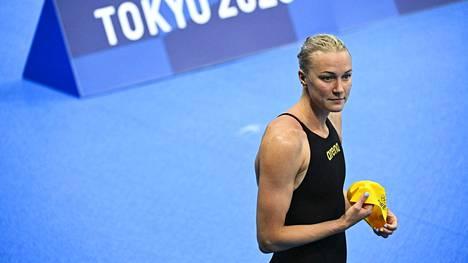 Sarah Sjöströmillä on Tokion olympia-altaassa kova työ, jotta 43 arvokisamitalin saalis kasvaisi entisestään.