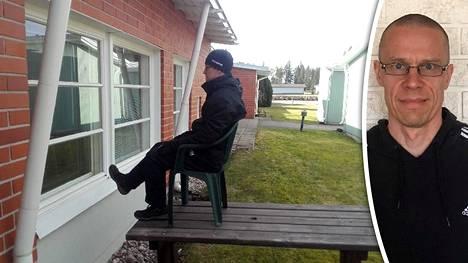 Markus Salo kävi liikuttamassa mummoja lomallaankin.