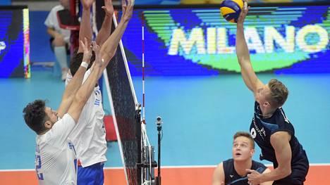 Miesten lentopallomaajoukkueen MM-turnaus päättyi tappioon Venäjälle