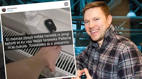 Juha Perälä oli keskiviikkoiltana vitsikkäällä tuulella.