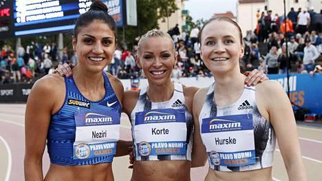 Nooralotta Neziri sai 10 000 euron apurahan, Annimari Korte ja Reetta Hurske puolestaan 20 000 euron.