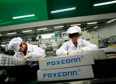 Foxconnin tehdas Guangdongin maakunnassa Kiinassa.