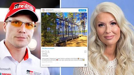 Jari-Matti Latvala ja Maisa Torppa omistavat yhdessä Puumalassa sijaitsevan mökin. Torppa omistaa loma-asunnosta 1/10.