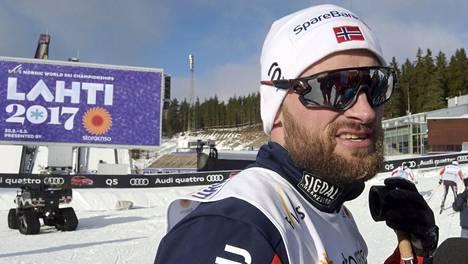 Petter Northug hiihdon MM-kisoissa Lahdessa 2017.