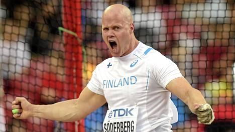 Yleisurheilun EM-joukkuekisa kilpaillaan ensi vuonna Vaasassa. Kuvassa moukarinheittäjä David Söderberg.