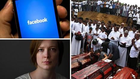 Vihapuheen torjuntaan erikoistuneen Utopia Analyticsin Mari-Sanna Paukkerin mukaan Facebook ei ottanut vastaan apua Sri Lankassa. Pääsiäisen pommi-iskuissa kuoli yli 250 ihmistä.