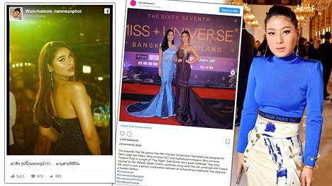 Youtube-tähti (vas.) kommentoi Thaimaan prinsessan (oik.) suunnittelemaa muotiluomusta kovin sanakääntein.