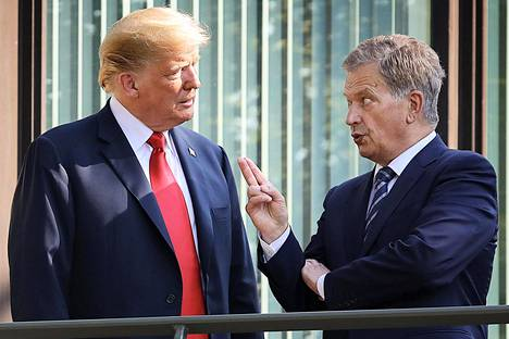 Donald Trump and Sauli Niinistö discussed in Helsinki in July 2018.