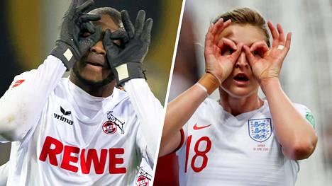 Bundesliiga-hyökkääjä Anthony Modeste teki alkuperäisen kiikarituuletuksen. Nyt naisten MM-kisoissa Englannin hyökkääjä Ellen White on tuuletellut maalejaan samalla tyylillä.
