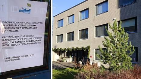 Senioritalo sijaitsee Lauttasaaressa.