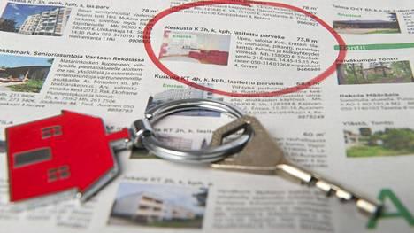 Heinäkuussa neliöhintojen keskiarvo koko maassa oli noin 2300 euroa.