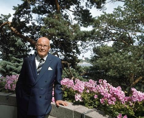 Presidentti Urho Kekkonen kuvattuna Kultarannassa heinäkuussa 1975.