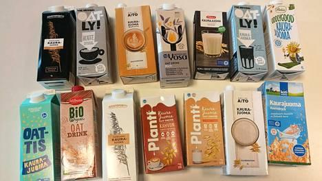 Markkinat ovat kasvaneet ja tuotteita on nyt saatavilla paljon. Seitsemän hengen raati maisteli 14 useimmista marketeista saatavaa kauramaitotuotetta.