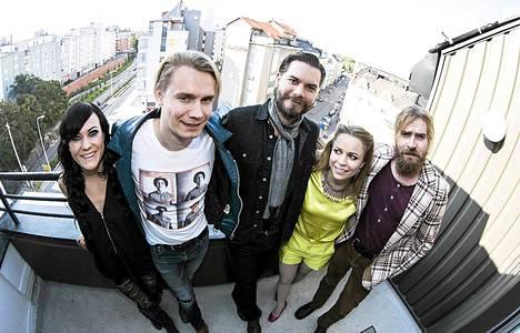 PMMP:n Mira Luoti, Heikki Kytölä, Juho Vehmanen, Paula Vesala ja Mikko Virta.