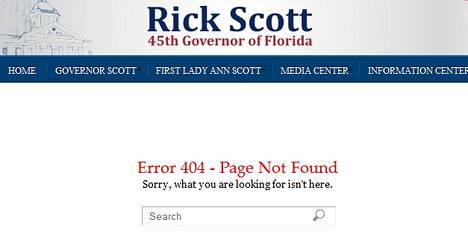 Floridan varakuvernööri Jennifer Carroll katosi nopeasti osavaltion nettisivuilta.