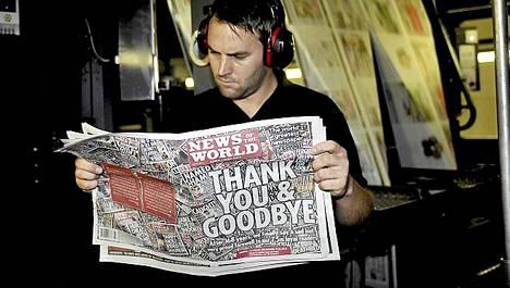 News of the Worldin viimeinen numero ilmestyy tänään