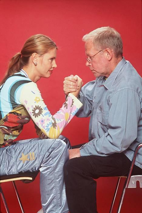Anu Saagim ja Ristomatti Ratia vuonna 1999.