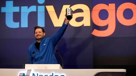 Trivagon perustaja Rolf Schromgens juhli yhtiön listautumista Nasdaqiin joulukuussa 2016.