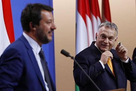 Italian Matteo Salvini vieraili Unkarissa Viktor Orbanin luona toukokuun toisena.