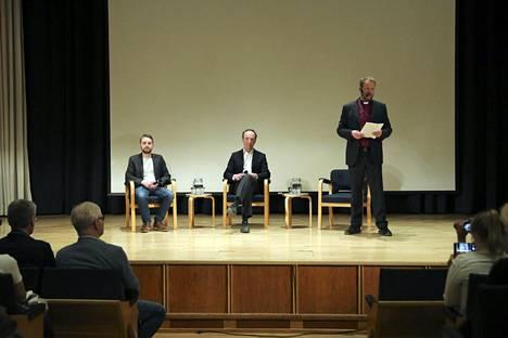 Piispa Teemu Laajasalo kutsui Kirkkopäiville kanssaan keskustelemaan koomikko Joonas Nordmanin ja perussuomalaisten puheenjohtaja Jussi Halla-ahon.