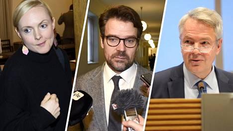 Maria Ohisalo, Ville Niinistö ja Pekka Haavisto olivat suosikkeja IS:n kyselyssä.