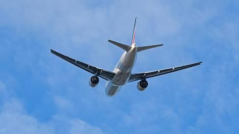 Air Francen matkustajakone kuvituskuvassa.