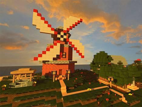 Minecraftissa voi askarrella vaikkapa tuulimyllyn.