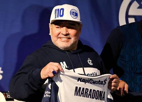 Diego Armando Maradona kuvattuna syyskuussa 2019.
