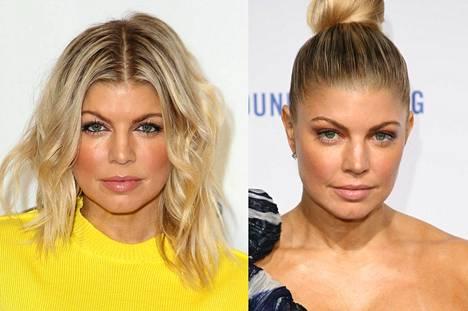 Fergie pitää hiuksensa edustustilaisuuksissa lähes poikkeuksetta auki, mutta tähden kasvonpiirteet saavat selkeän kohotuksen tiukasta nutturakampauksesta.