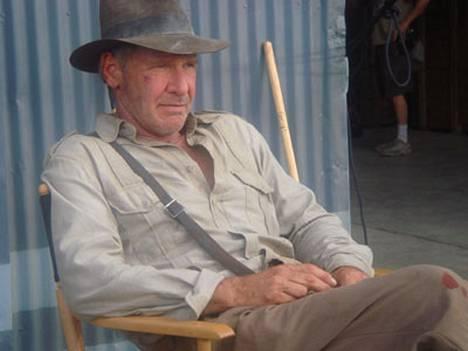 Indy is back! Harrison Ford uuden Indiana Jones -leffan filmaustauolla.