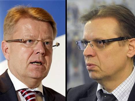 EK:n toimitusjohtaja Jyri Häkämies ja SAK:n puheenjohtaja Lauri Lyly.