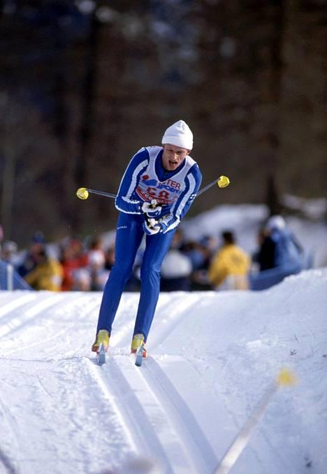 Härkönen voitti 15 kilometrin kilpailun Seefeldin MM-kisoissa vuonna 1985.