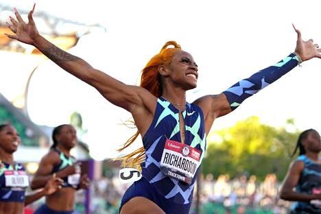 Yhdysvaltain olympiakarsinnoissa Richardson oli vielä huippuvauhdissa.