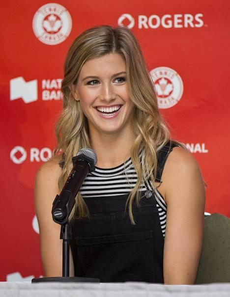 Kanadalainen tennistähti oli listan sijalla 7. Tenniksen naisten maailmanlistalla Bouchard, 21, on tällä hetkellä sijalla 58.