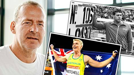 Uwe Hohn vierailee Kuortaneen urheiluopistolla. Huimasta ME-heitostaan muistettava Hohn seurustelee australialaisen Kathryn Mitchellin kanssa.