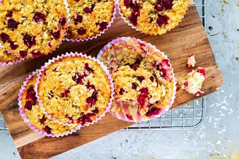 Nämä muffinit syntyvät ilman valkoista sokeria ja vehnää.
