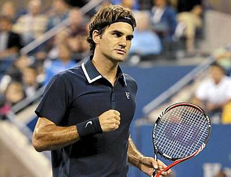 Federer jatkaa menoaan U.S. Openissa.