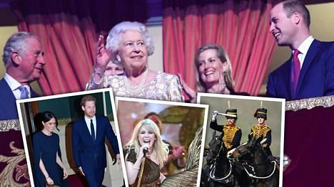 Kuningatar Elisabet sai juhlia syntymäpäiviään läheistensä kanssa ja nauttia upeista esityksistä.