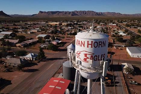 Avaruusraketti lähetetään taivaalle Van Hornin liepeiltä Texasista.