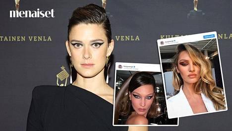 Krista Kososella Venla-gaalassa nähdyssä silmämeikissä on paljon samaa kuin Instagramissa suositussa tyylissä.
