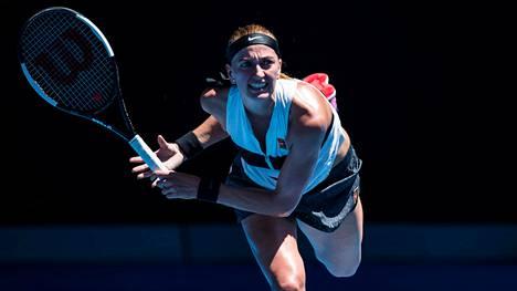 Tshekin Petra Kvitova selvitti tiensä loppuotteluun Australian avoimissa