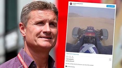 Aavikkoajelu teki kipeää David Coulthardille.