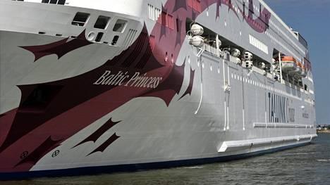 Baltic Princess -aluksella oli lauantain ja sunnuntain välisenä yönä noin 500 matkustajaa.