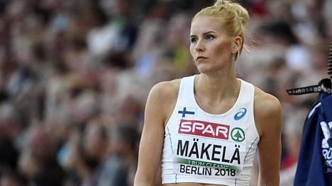 Kristiina Mäkelä jäi ulos kolmelta viimeiseltä kierrokselta kolmiloikkafinaalissa.
