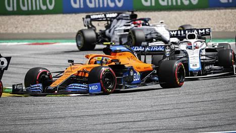 Lando Norris oli kahdessa Itävallassa ajetussa GP:ssä sijoilla kolme ja viisi. Hän on MM-sarjassa kolmantena Mercedeksen Valtteri Bottaksen ja Lewis Hamiltonin jälkeen.