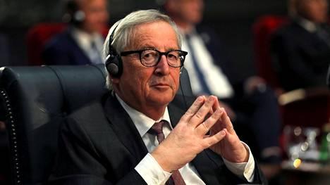 Jean-Claude Juncker kuvattiin Egyptissä 25. helmikuuta 2019.