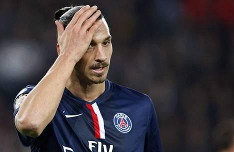 Tästä naamapalmusta huolimatta Zlatan Ibrahimovicin PSG voitti Marseillen 9. marraskuuta 2014.